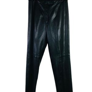 JLC NY Black leather pants quality like new SZ 10